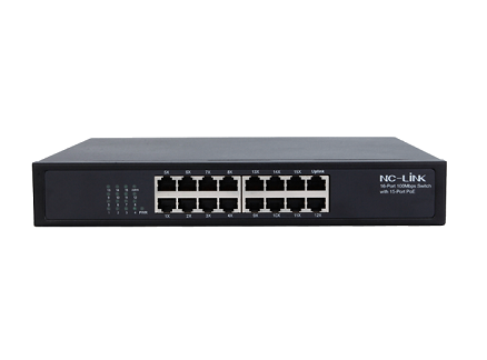 NC-LINK NC-PUS016-24V 10/100Mbps Switch PoE Passive (16 Port)