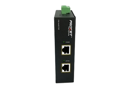 PROCET PT-PSE105G-E DC Input Gigabit PoE Injector with Surge Protection (30W)