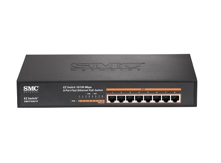 SMC SMCFS801P 10/100Mbps EZ Switch PoE (8 Port)