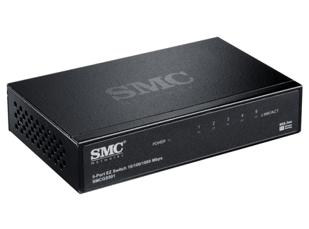 SMC SMCGS501 Gigabit EZ Switch (5 Port)