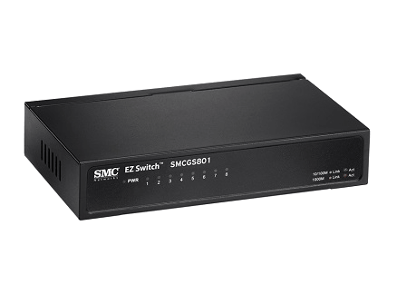 SMC SMCGS801 Gigabit EZ Switch (8 Port)